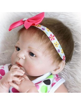 """23"""" Beautiful Full Simulation Silicone Baby Girl Reborn Baby Doll in Dress"""