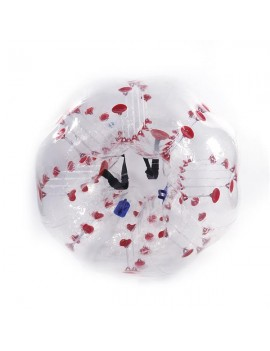 1.5M PVC Inflatable Bumper Bubble Ball Red Dot
