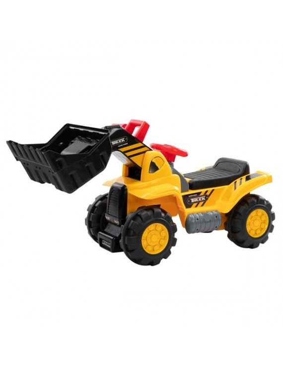 Ride On Bulldozer, Outdoor Digger Scooper Pulling Cart With Front Loader Digger Horn Underneath Storage