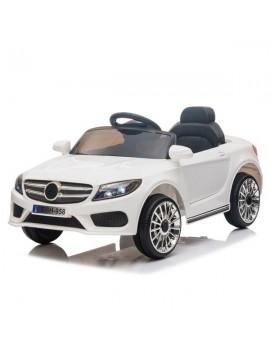 12V Kids Ride On Car 2.4GHZ Remote Control LED Lights White