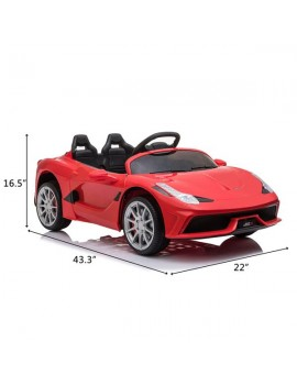 12V Kids Ride On Sports Car 2.4GHZ Remote Control Red