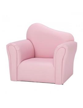 Children Single Sofa Bent Back Pink