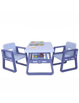 [US-W]Kids Table and Chairs Set - Toddler Activity Chair Best for Toddlers Lego, Reading, Train, Art Play-Room (2 Childrens Seats with 1 Tables Sets) Little Kid Children Furniture Accessories purple